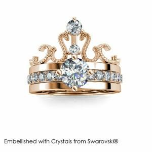 Harga original cincin crystal swarovski   royalty ring 2 in 1 style | HARGALOKA.COM