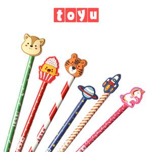 Harga pensil pencil kayu alat tulis stationery lucu topper kartun karakter   merah | HARGALOKA.COM
