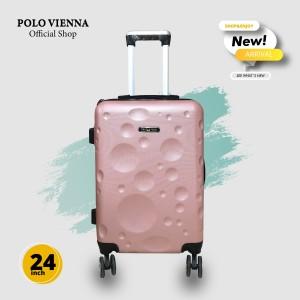 Harga koper bagasi murah polo viena model 007 24 inch abs fibergratis ongkir   rose   HARGALOKA.COM