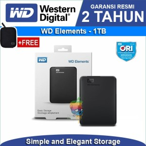 Harga wd elements hardisk eksternal 1tb hd hdd external free original | HARGALOKA.COM
