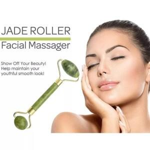 Harga jade roller 2 sisi alat pijat wajah batu giok anti aging   HARGALOKA.COM