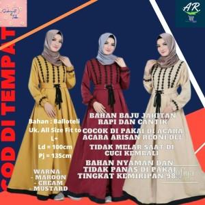 Harga hijab busana muslim baju gamis terbaru louisa syar 39 i fashion | HARGALOKA.COM