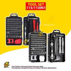 Harga tools set 115 in 1 obeng set service handphone laptop elektronik   115 in | HARGALOKA.COM