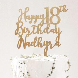 Harga cake topper murah happy birthday topper hiasan kue ulang tahun   | HARGALOKA.COM