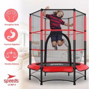 Harga trampoline untuk anak anak trampolin lompat olahraga speeds  3   merah | HARGALOKA.COM