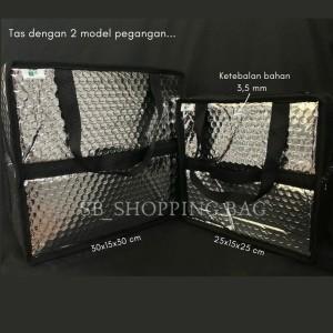 Harga 2 in 1 tas alumunium foil bubble bisa untuk cake box bekal belanjaan   | HARGALOKA.COM