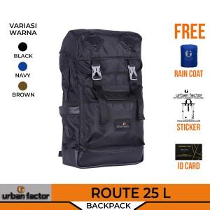 Harga tas ransel punggung pria distro kerja laptop urban factor series route   | HARGALOKA.COM