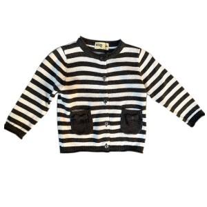 Harga striped baby girl knit cardigan cardigan bayi motif garis   moejoe   black   HARGALOKA.COM