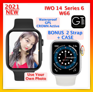 Harga iwo 14 w66 smartwatch 44mm full screen bluetooth jam series 6 w56 t500   44mm | HARGALOKA.COM