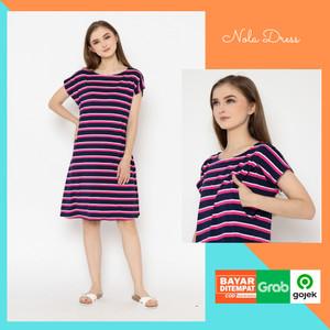 Harga baju hamil dress menyusui untuk busui bumil all size spandek | HARGALOKA.COM
