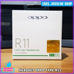 Harga earphone headset oppo a52 a53 a33 original 100 model r11   | HARGALOKA.COM