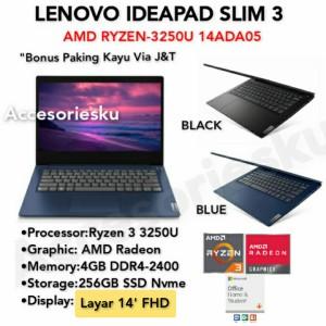 Harga laptop lenovo slim 3 ryzen 3 3250u 4gb ssd 256gb windows 10   ram 4gb | HARGALOKA.COM
