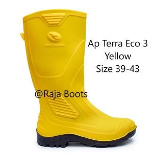 Harga sepatu boots pria karet panjang terra eco 3 ap boots   kuning | HARGALOKA.COM