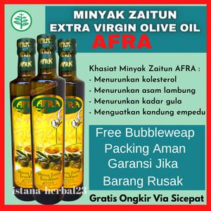 Harga ekstra virgin olive oil afra original 250 asli minyak zaitun | HARGALOKA.COM