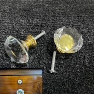 Harga tarikan bulat untuk laci dan pintu lemari model intan 2pcs | HARGALOKA.COM