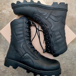 Harga sepatu pdl hitam dop sol radial tni polri brimob pollpp damkar securty   hitam dop | HARGALOKA.COM