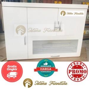 Harga promo kitchen set atas rak piring gantung lemari piring gantung | HARGALOKA.COM