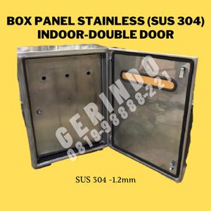 Harga box panel listrik 70x50x20cm indoor double door stainless sus304 1 | HARGALOKA.COM