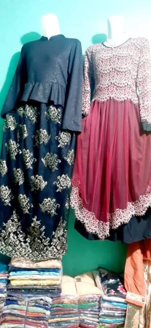 Harga baju gamis wanita grosir random type dan ukuran harga 1 lsn | HARGALOKA.COM