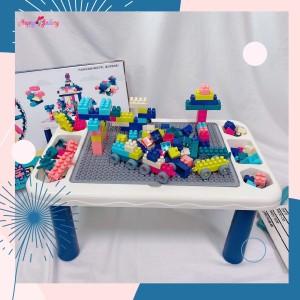 Harga hg 205pcs lego duplo sedang meja balok susun sedang   biru   HARGALOKA.COM