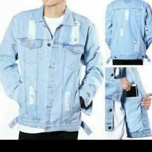 Harga jaket jeans pria wanita denim sobek destroy original distro termurah   bio blitz sobek | HARGALOKA.COM