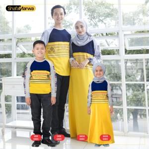 Harga baju couple keluarga kaos sarimbit family set shafamarwa 58 kubus   cowok anak 2th 6th | HARGALOKA.COM
