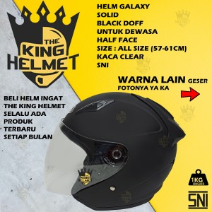 Harga helm galaxy solid dewasa sni half | HARGALOKA.COM