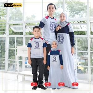 Harga baju couple keluarga kaos sarimbit family set shafamarwa 56 abu   cowok anak 2th 6th | HARGALOKA.COM