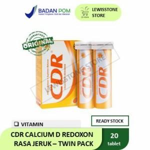 Harga cdr calcium d redoxon rasa jeruk tablet effervescent twin pack isi | HARGALOKA.COM