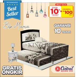 Harga central spring bed big mama 2 in 1 matras kasur full bedset 90 100 120   100 | HARGALOKA.COM