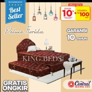 Harga central spring bed deluxe 2 in 1 matras kasur full bedset 90 100 120   90 | HARGALOKA.COM
