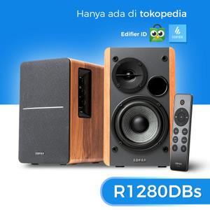 Harga edifier r1280dbs powered bluetooth 5 0 speakers   brown | HARGALOKA.COM