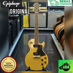 Harga elektrik gitar epiphone les paul special tv yellow   | HARGALOKA.COM