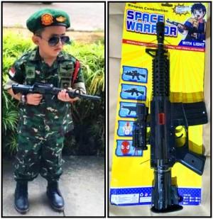 Harga baju profesi anak loreng raider komplit mainan senjata kostum tni   | HARGALOKA.COM