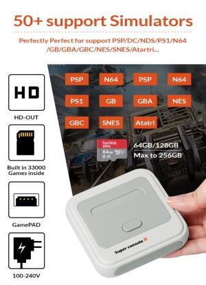 Harga super console x 33000 built in games ps1 psp dreamcast nds emulator   console   HARGALOKA.COM
