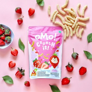 Harga omo crunch it strawberry   snack sehat bayi 8 bulan | HARGALOKA.COM