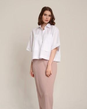 Harga elena white shirt lizaddict atasan casual formal kemeja putih   putih all | HARGALOKA.COM