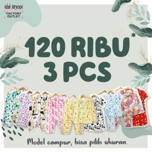 Harga mix motif piyama baju tidur murah big size dewasa   3 set s | HARGALOKA.COM