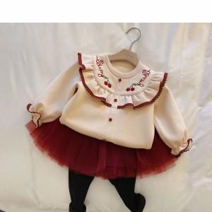 Harga setelan sweater p65 baju korean style import anak perempuan cewek   atasan krem size | HARGALOKA.COM