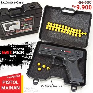 Harga sniper baretta pistol angin mainan anak peluru karet | HARGALOKA.COM
