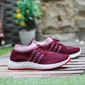 Harga sepatu wanita fashion korea tali import   merah | HARGALOKA.COM