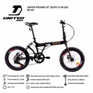 Harga folding bike united quest ci 04 20 sepeda lipat   | HARGALOKA.COM