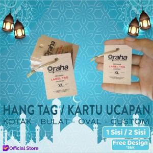Harga hang tag label hang tag baju pakaian kartu ucapan   art carton 210 custom | HARGALOKA.COM