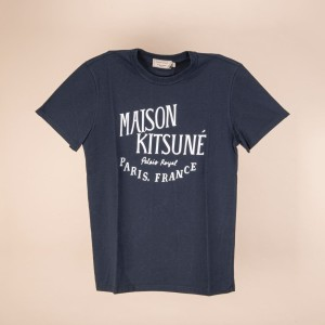 Harga maison kitsune off white handwriting tshirt man | HARGALOKA.COM