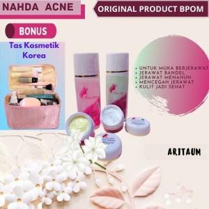 Harga ready nahda skincare paket acne bpom ori untuk kulit | HARGALOKA.COM