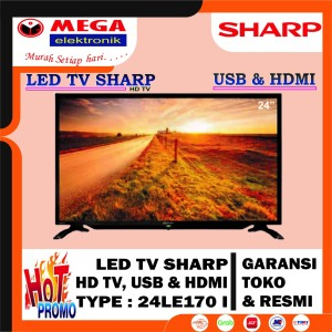 Harga led tv 24 inch sharp 24 le170i hd tv harga promo garansi resmi | HARGALOKA.COM