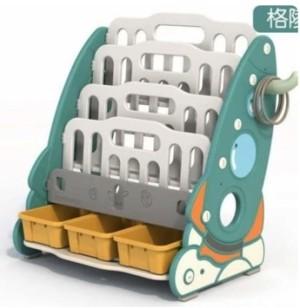 Harga rak buku montessori anak 5 susun roket warna hijau bahan pp pe | HARGALOKA.COM