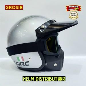 Harga helm bogo helm retro arc itali gogglas mask dewasa topi panjang cod   silver pet | HARGALOKA.COM