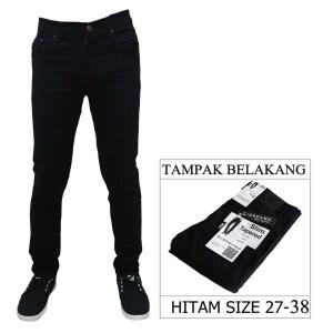 Harga celana panjang jeans pria skinny slim fit jens jins cowok melar   hitam | HARGALOKA.COM
