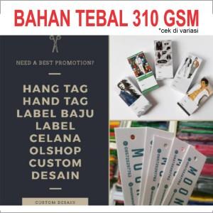 Harga hangtag hand tag tali hangtag label baju celana hijab olshop custom   2 5x5cm 260 gsm print 1 | HARGALOKA.COM